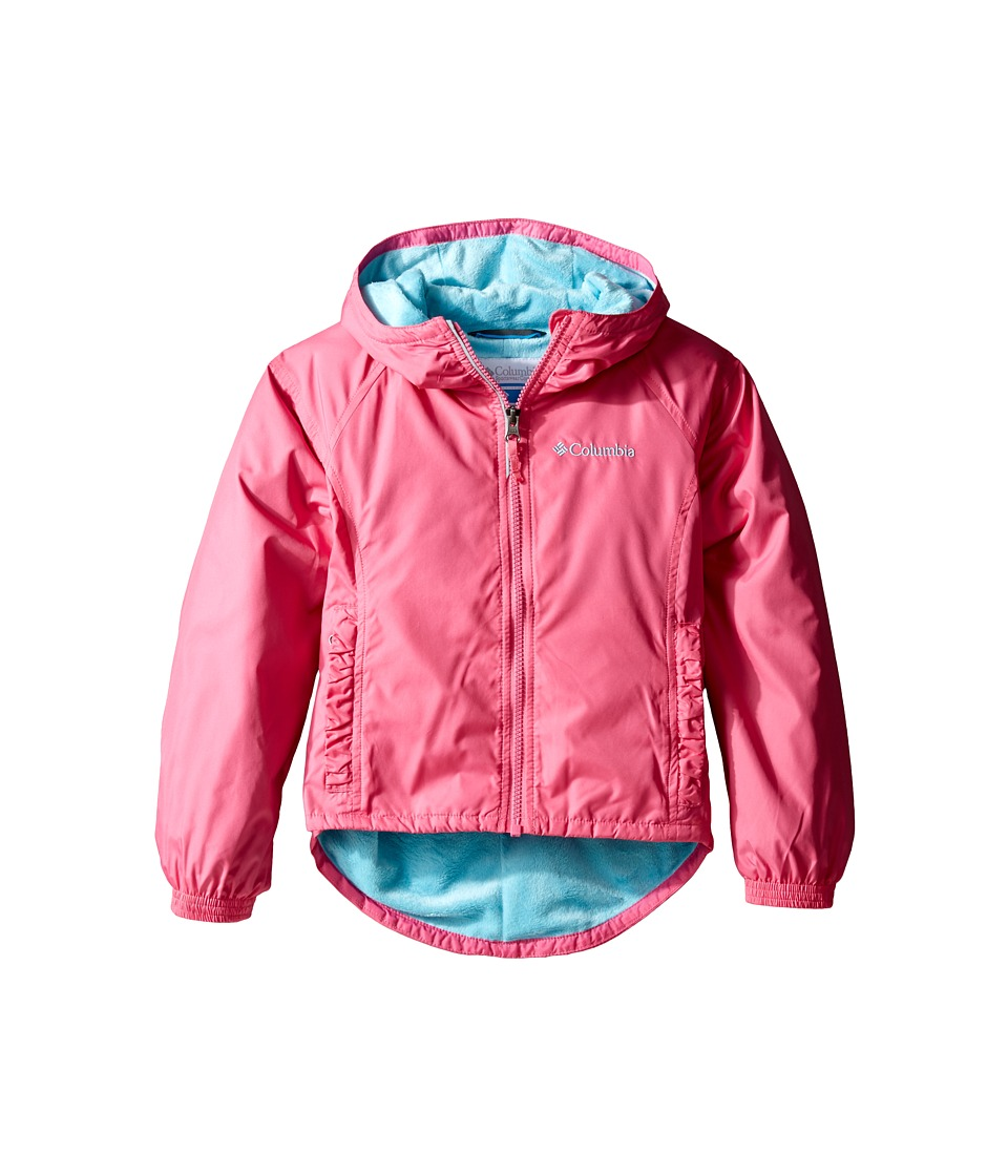 Columbia Kids - Ethan Pondtm Jacket (Little Kids/Big Kids) (Wild Geranium/Clear Blue) Girl's Coat