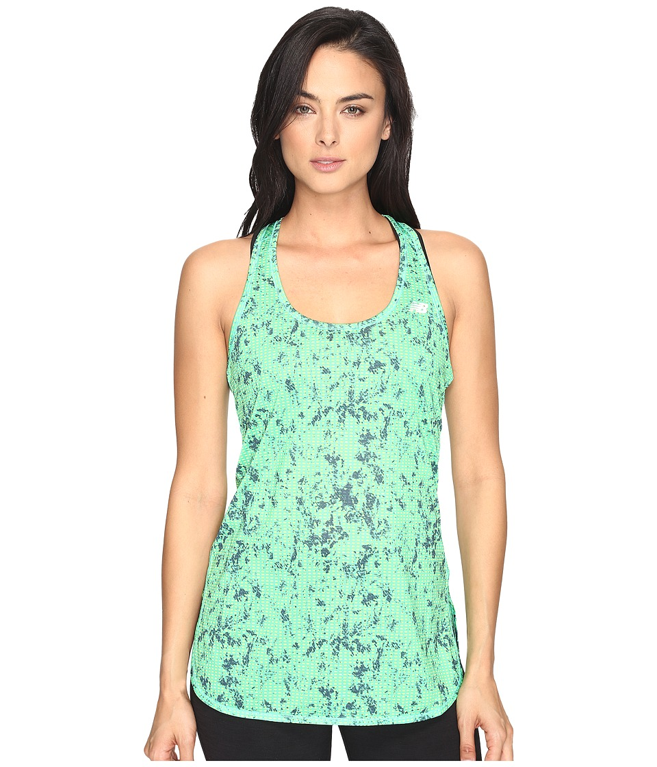 New Balance - Accelerate Tunic Graphic (Lime Glow Water Floral) Women's Sleeveless