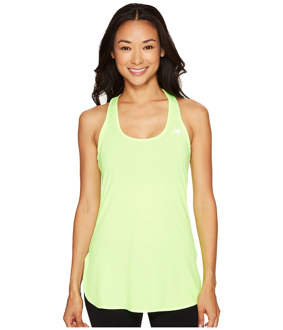 New Balance - Accelerate Tunic (Lime Glow) Women's Sleeveless