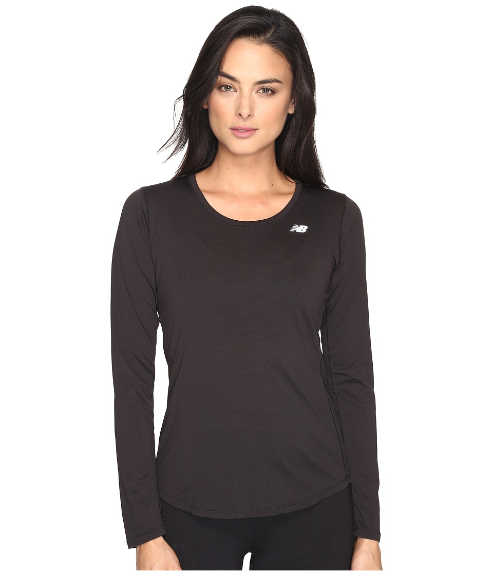 New Balance - Accelerate Long Sleeve (Black) Women's Long Sleeve Pullover