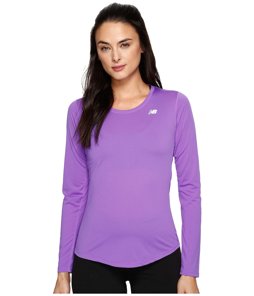 New Balance - Accelerate Long Sleeve (Alpha Violet) Women's Long Sleeve Pullover
