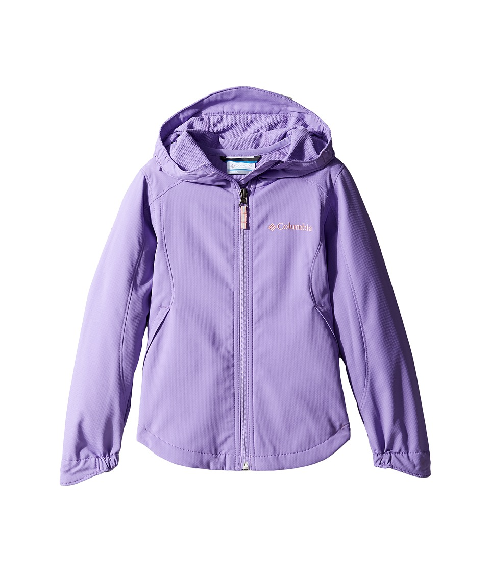 Columbia Kids - Splash Flashtm II Hooded Softshell Jacket (Little Kids/Big Kids) (Paisley Purple/Sorbet) Girl's Coat