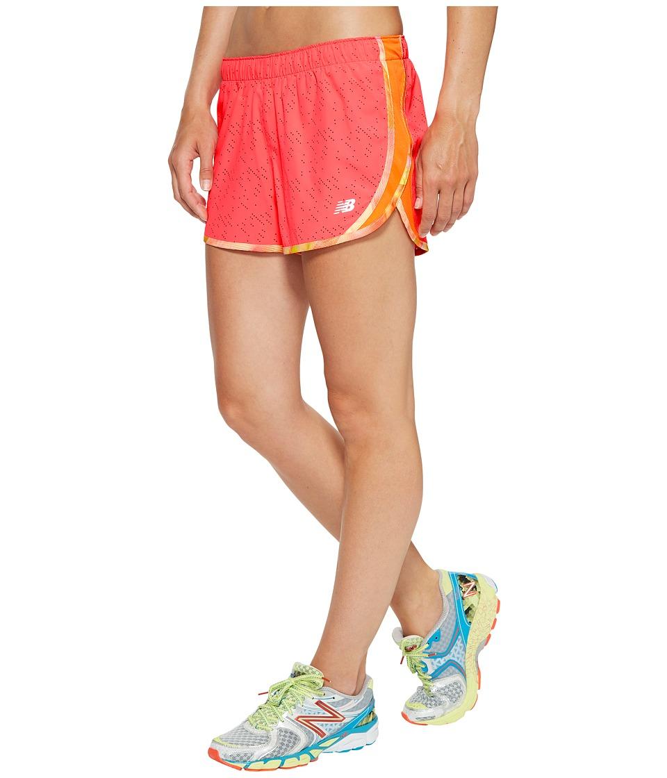 New Balance - Accelerate 2.5 Printed Short (Alpha Pink) Women's Shorts