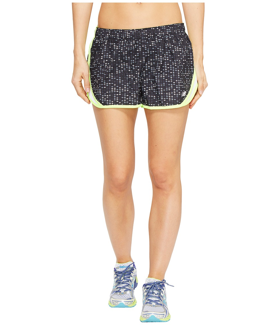 New Balance - Accelerate 2.5 Printed Short (Black Digital Ovals) Women's Shorts