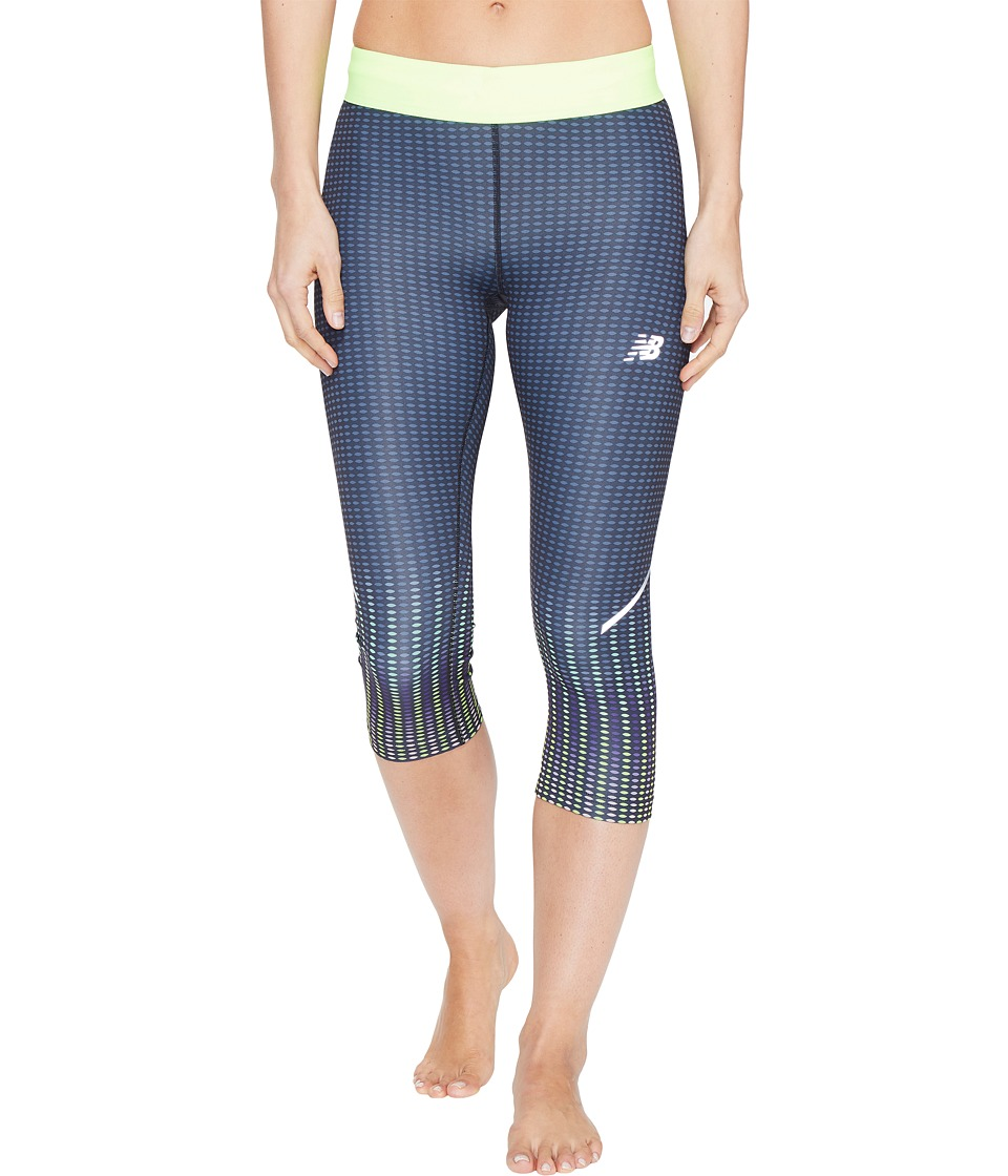 New Balance - Printed Accelerate Capris (Placed Digital Ovals) Women's Capri