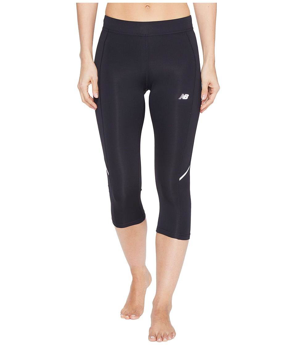 New Balance - Accelerate Capris (Black) Women's Capri