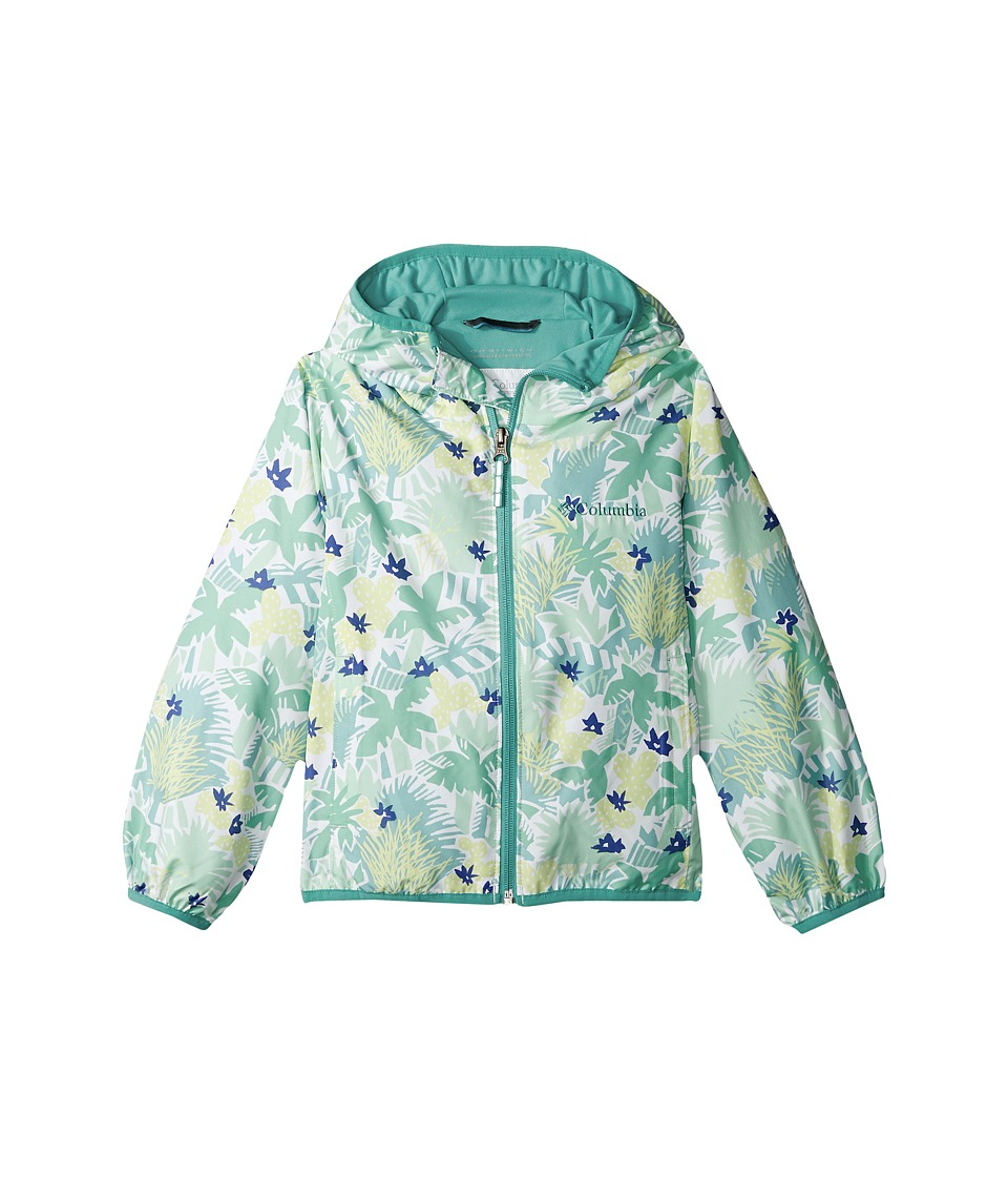 Columbia Kids Pixel Grabbertm II Wind Jacket (Little Kids/Big Kids) (Sea Ice Cactus Print/Miami) Girl