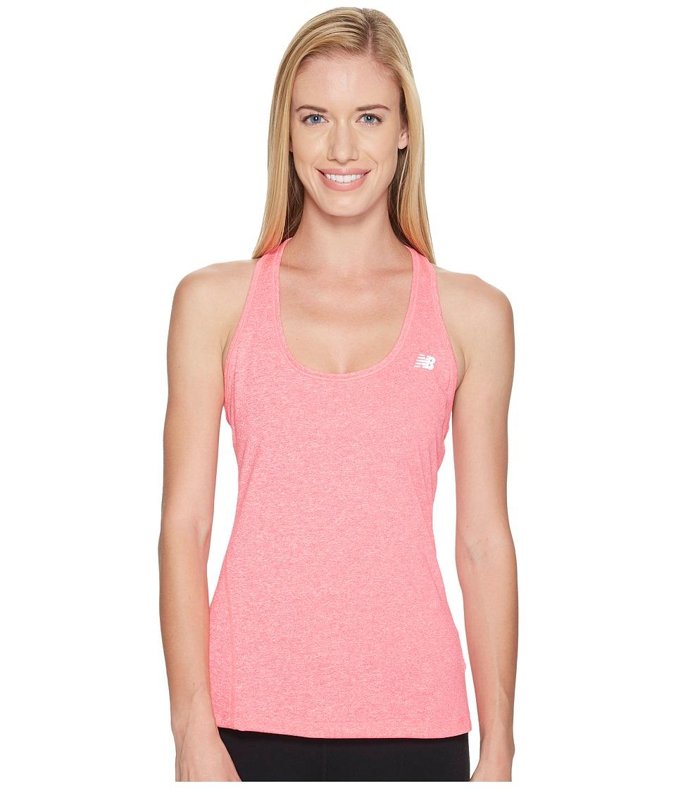 New Balance - Heathered Jersey Tank Top (Alpha Pink Heather) Women's Sleeveless
