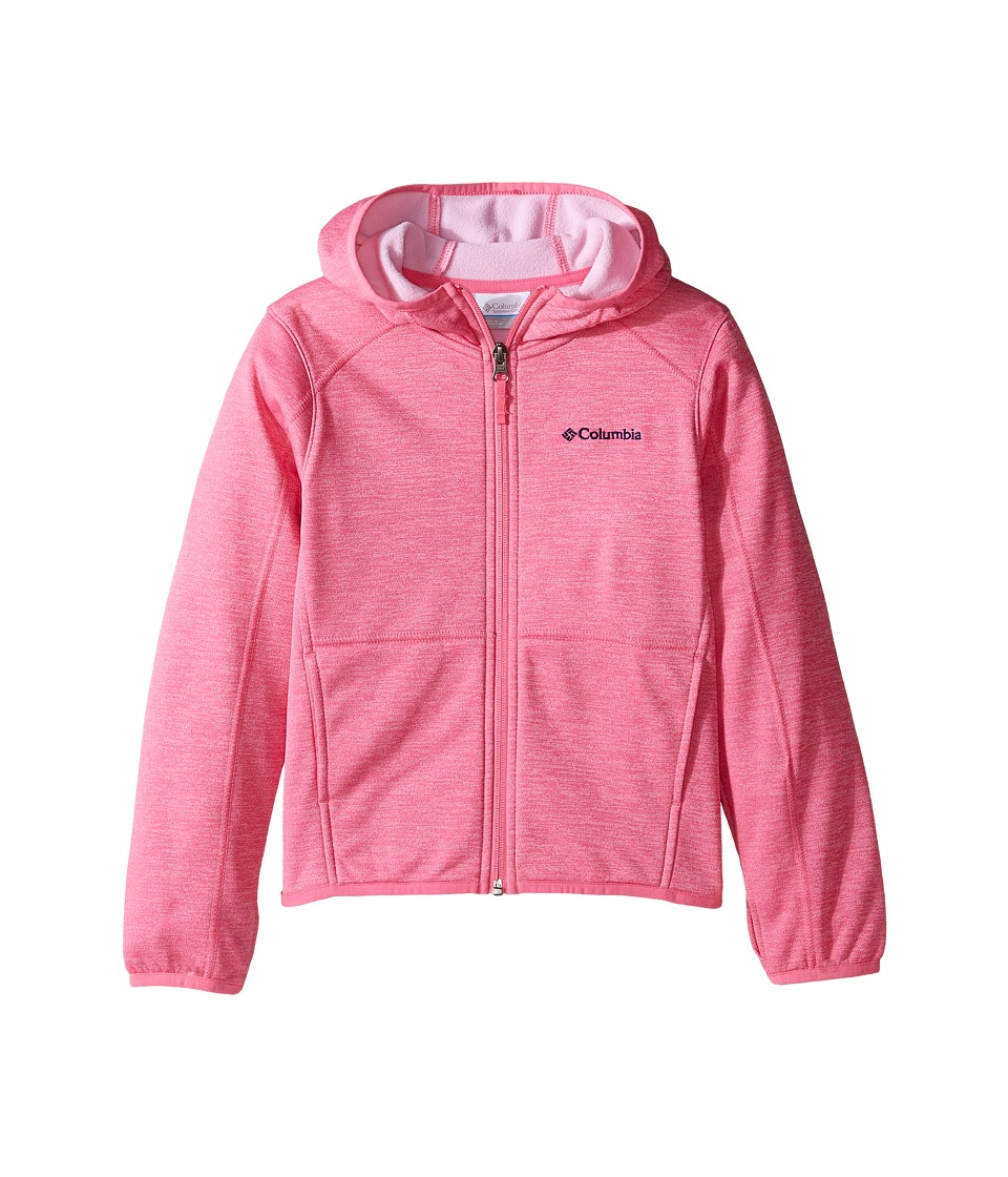 Columbia Kids - S'more Adventure Full Zip Hoodie (Little Kids/Big Kids) (Wild Geranium Heather) Girl's Sweatshirt