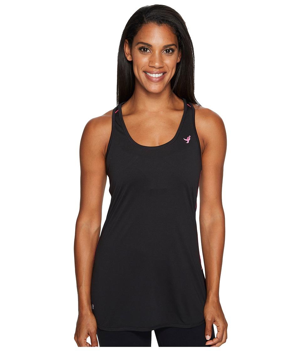New Balance - Lace-Up Accelerate Tunic (Black) Women's Sleeveless