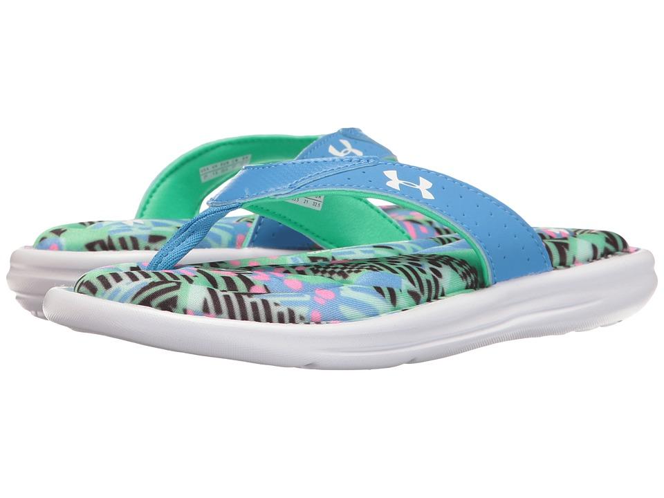 Under Armour Kids - UA Marbella Geo Mix (Little Kid/Big Kid) (White/Water/Vapor Green) Girls Shoes