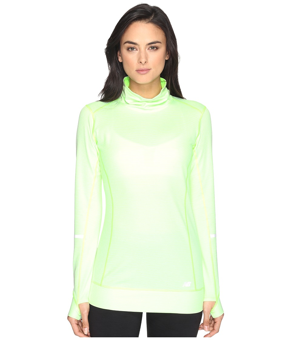 New Balance - Stripe Tunic (Lime Glow Heather) Women's Sleeveless