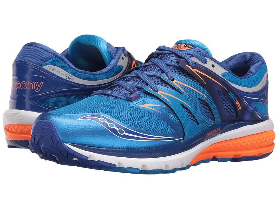 Saucony - Zealot ISO 2 (Blue/Orange) Men's Running Shoes