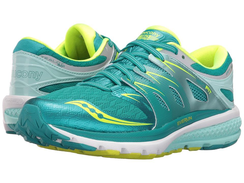 Saucony - Zealot ISO 2 (Teal/Citron) Women's Running Shoes
