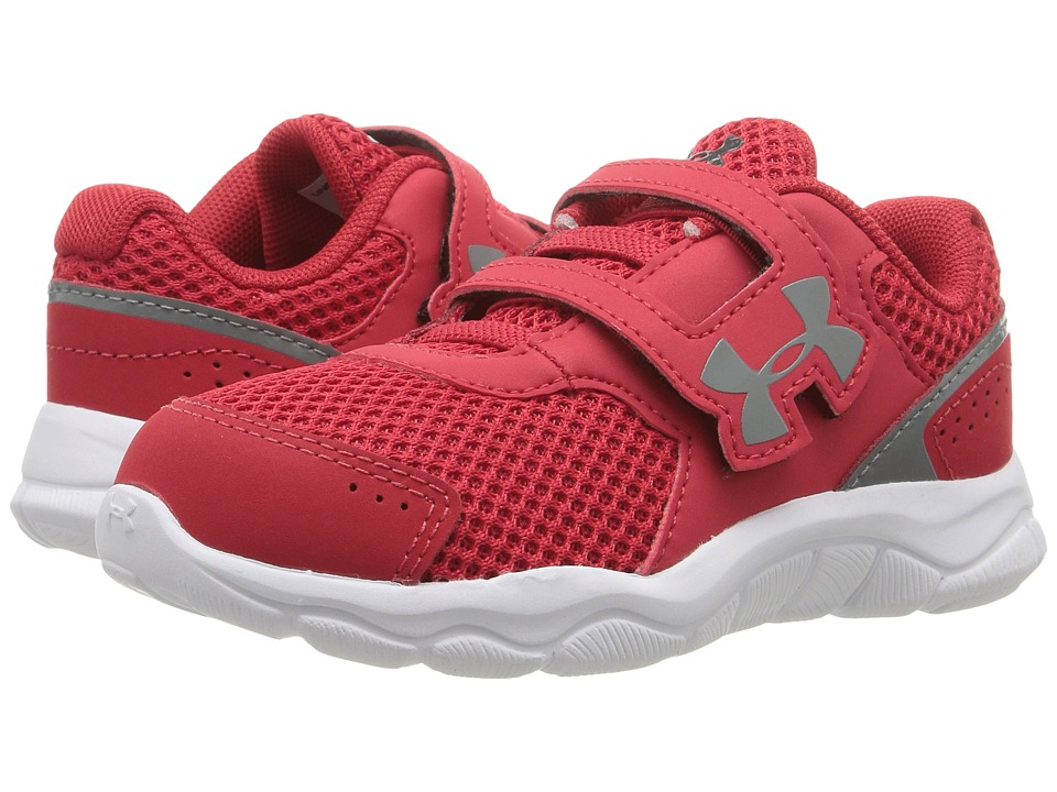 Under Armour Kids - UA BINF Engage BL 3 AC (Infant/Toddler) (Red/White/Graphite) Boys Shoes