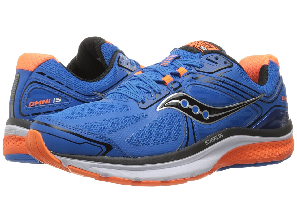 Saucony - Omni 15 (Blue/Orange/Black) Men's Running Shoes