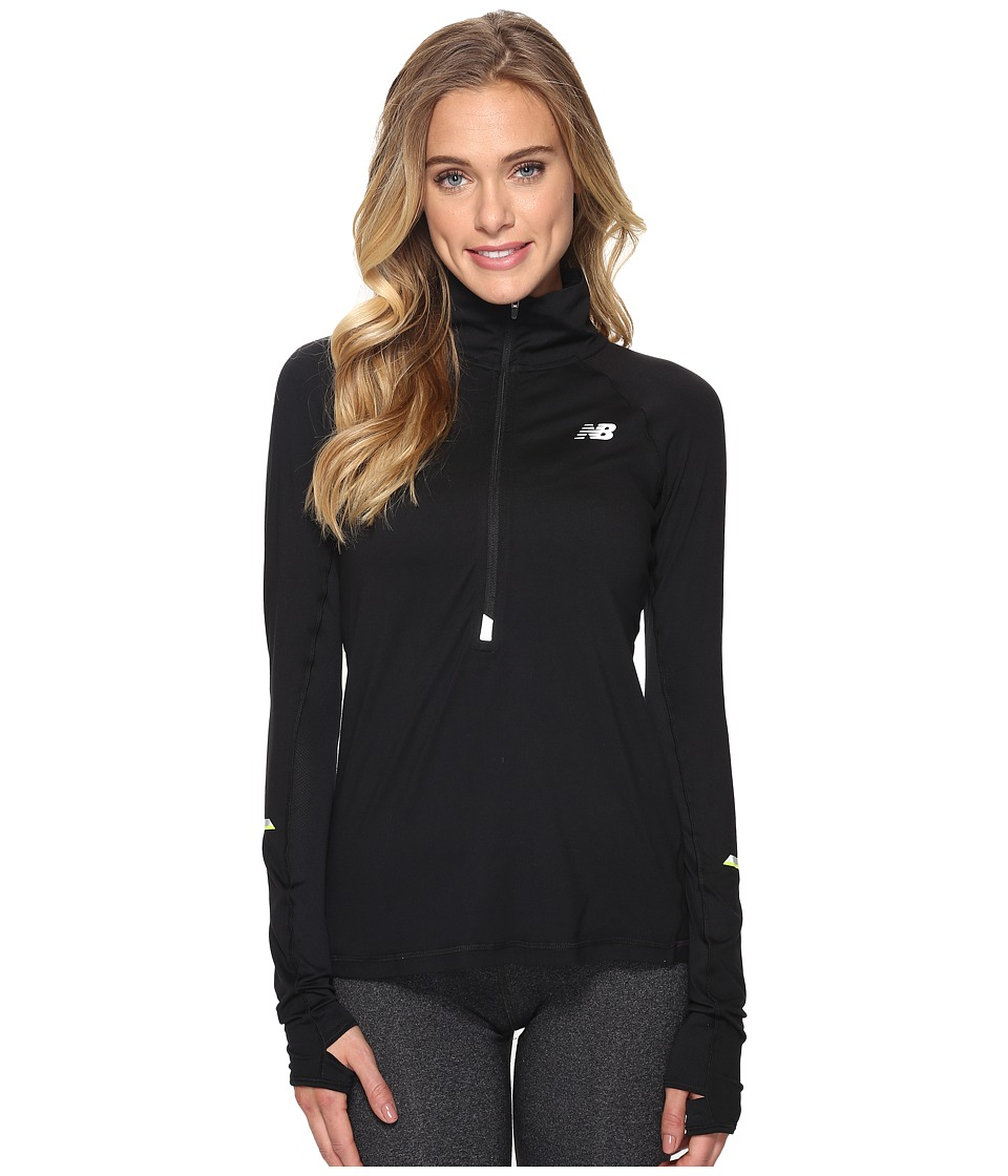 New Balance - Impact 1/2 Zip (Black) Women's Sweatshirt