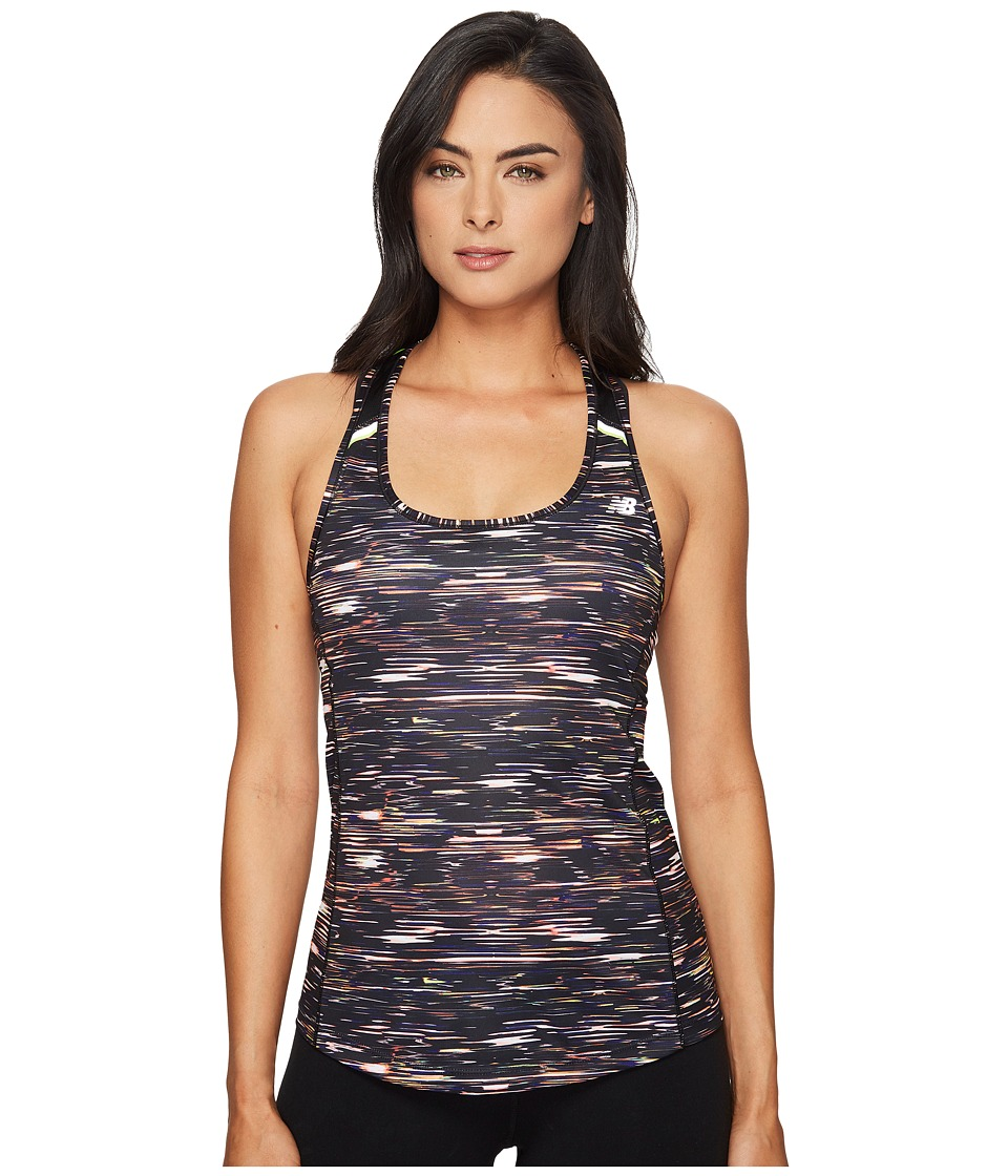 New Balance - Ice Tank Top Print (Multi Intensity Stripe/Black) Women's Sleeveless