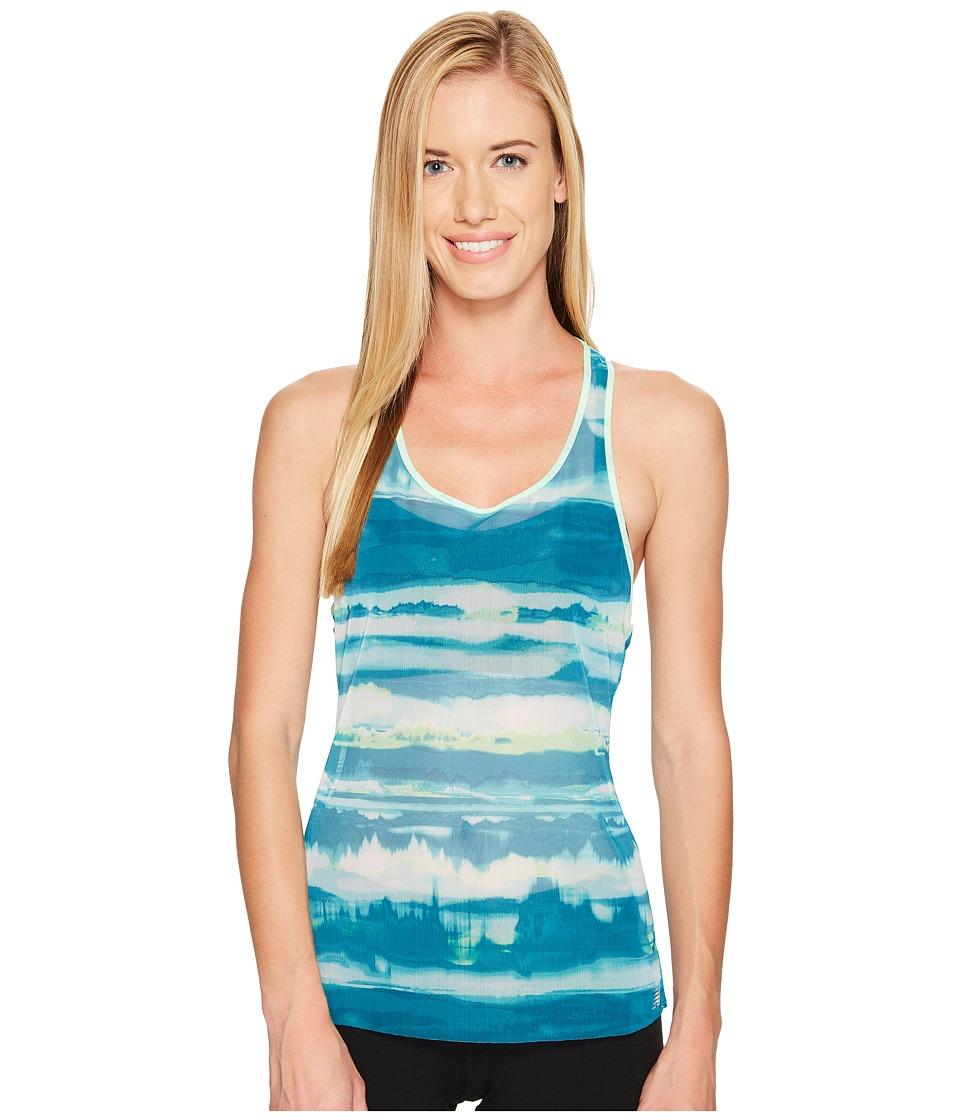 New Balance - Mesh Tank Top (Deep Ozone Waves) Women's Sleeveless