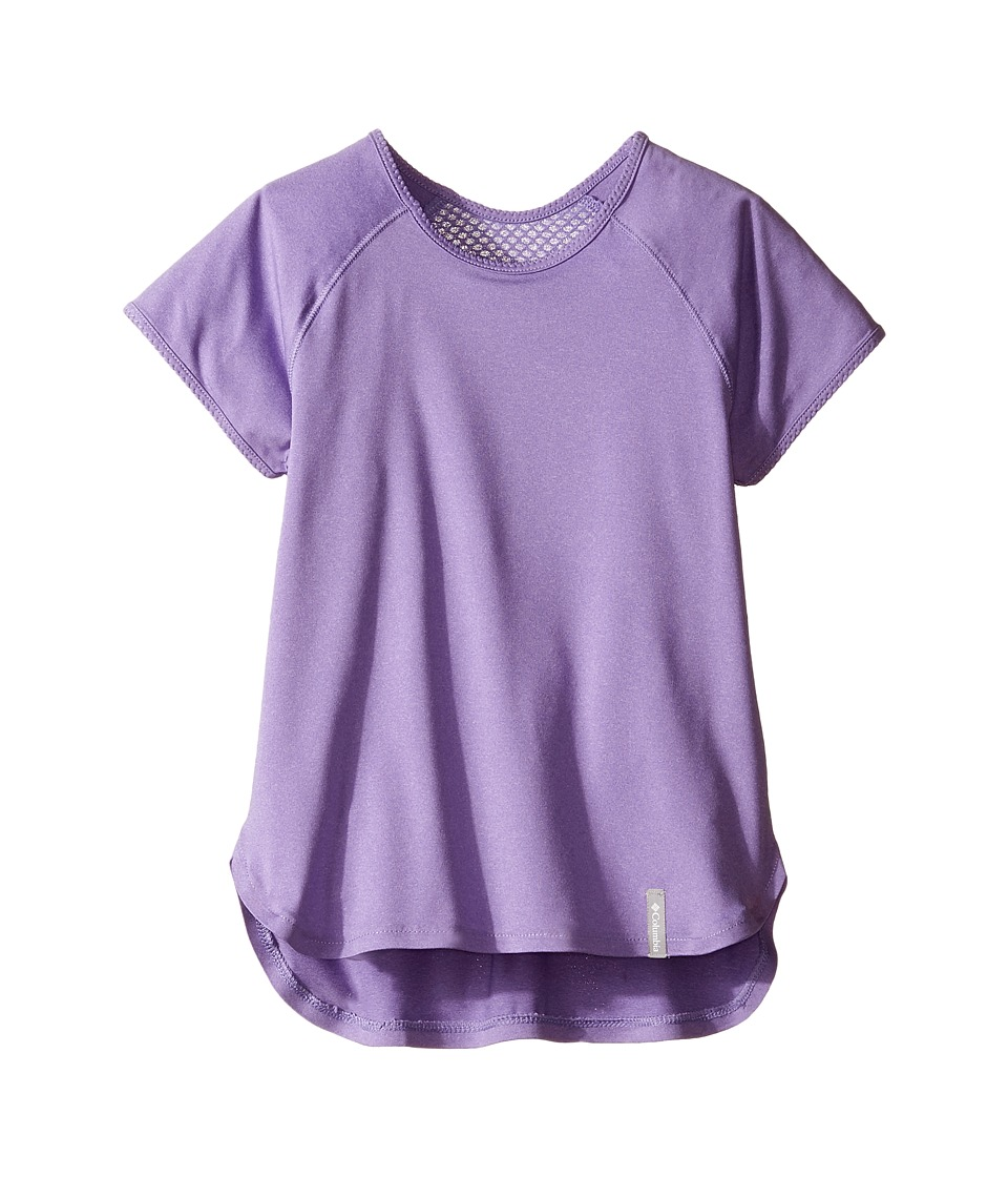 Columbia Kids - Athena Short Sleeve Shirt (Little Kids/Big Kids) (Paisley Purple) Girl's T Shirt