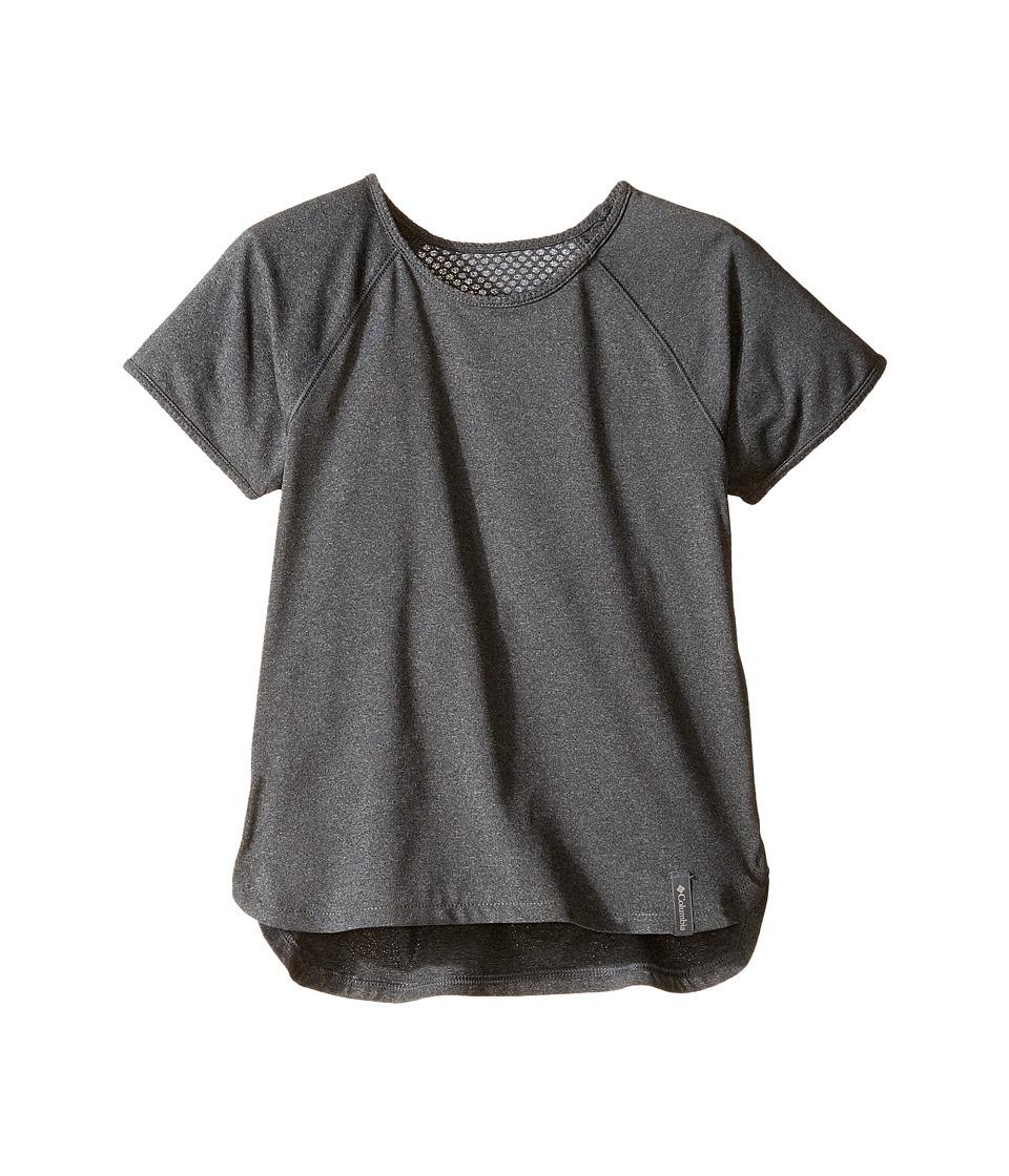Columbia Kids - Athena Short Sleeve Shirt (Little Kids/Big Kids) (Graphite) Girl's T Shirt