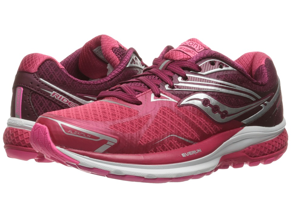 Saucony - Ride 9 (Pink/Berry) Women's Running Shoes