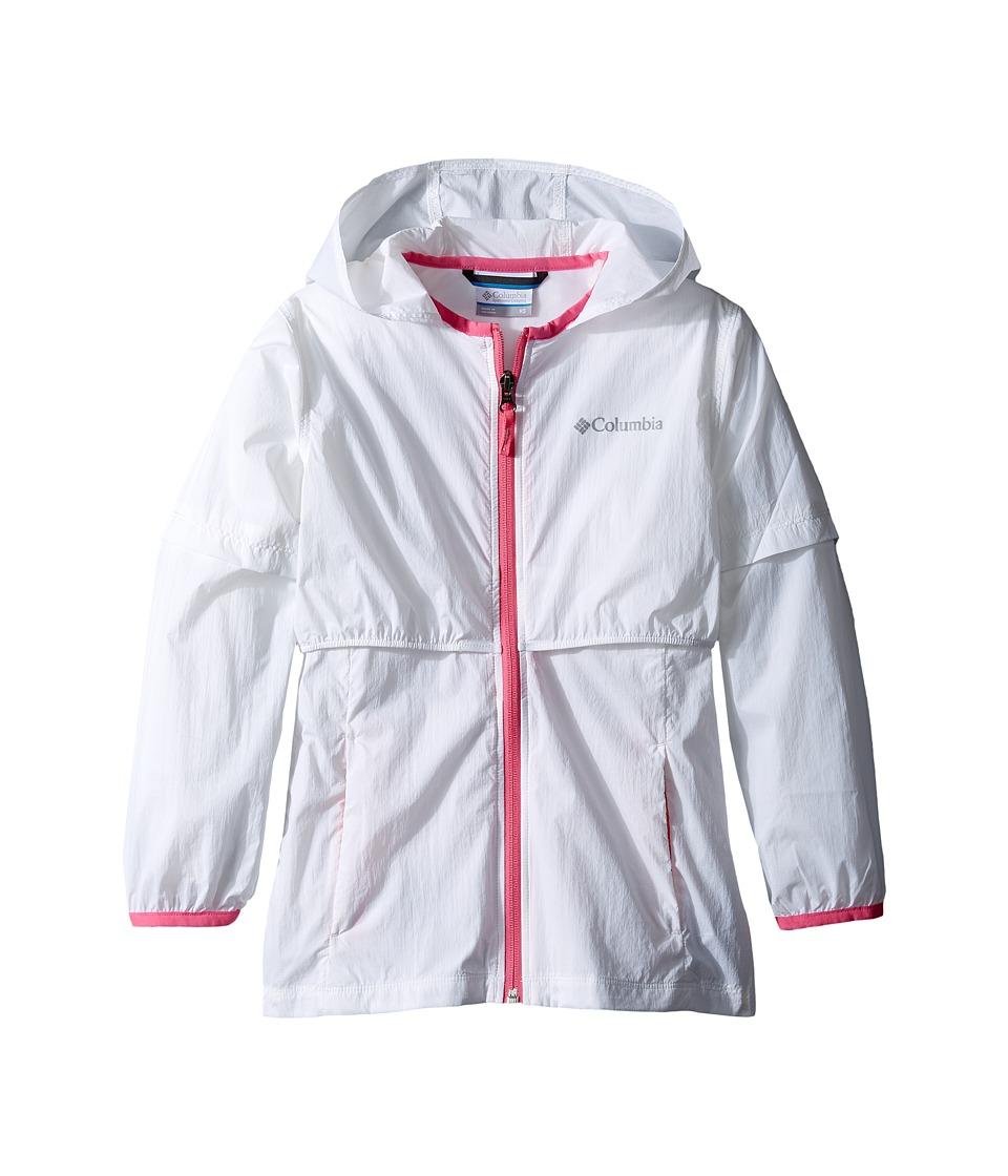 Columbia Kids - Athena Long Jacket (Little Kids/Big Kids) (White/Wild Geranium) Girl's Coat