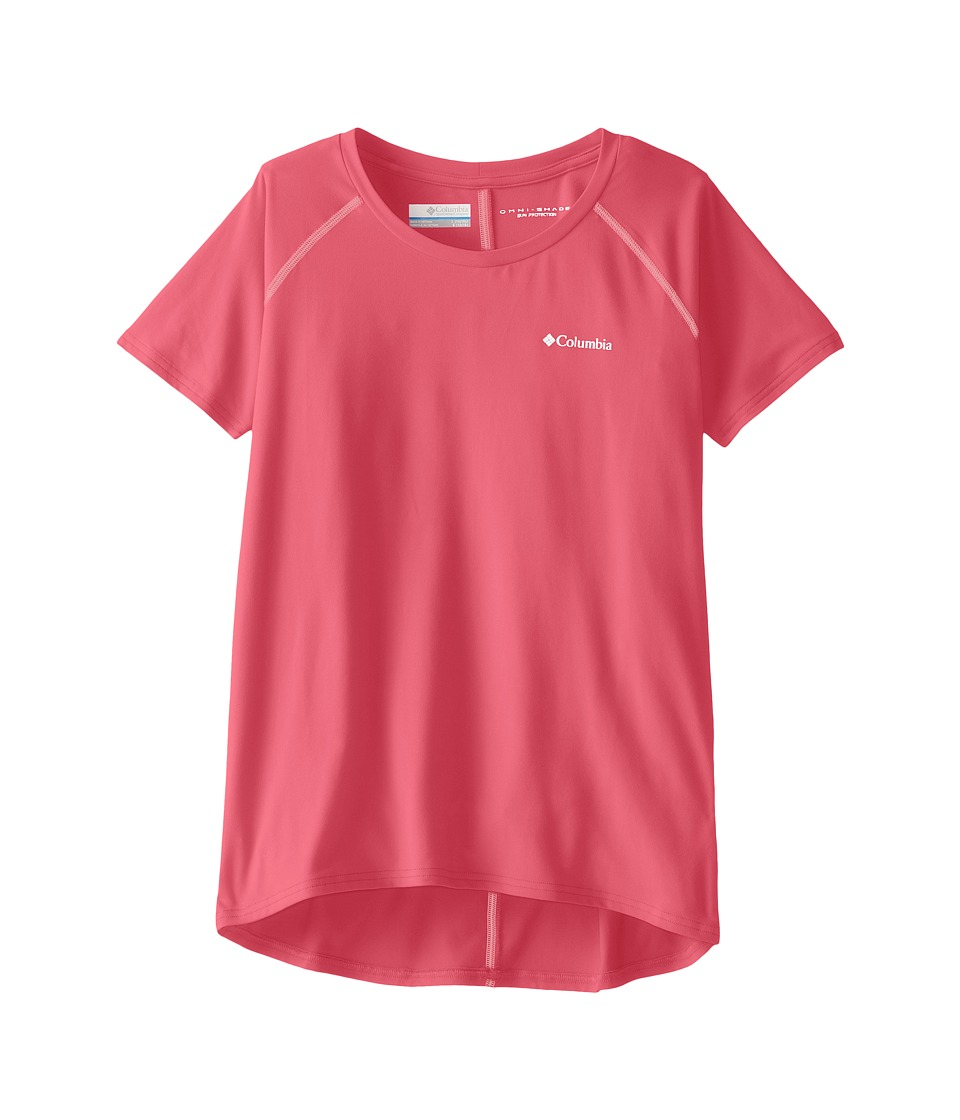 Columbia Kids - Silver Ridgetm Short Sleeve Tee (Little Kids/Big Kids) (Wild Geranium/Cupid Pop) Girl's Short Sleeve Pullover