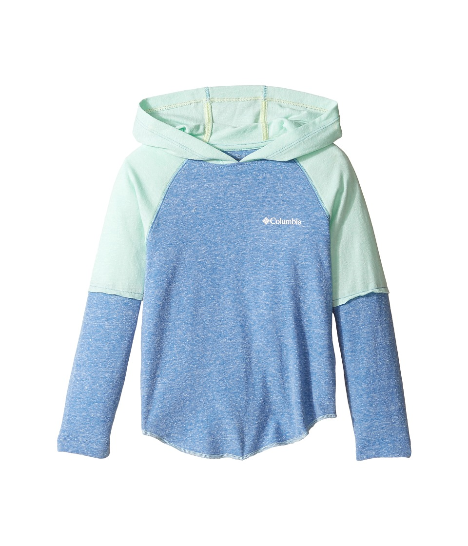 Columbia Kids - Silver Ridge Novelty Hoodie (Little Kids/Big Kids) (Medieval Heather/Sea Ice Heather) Girl's Sweatshirt