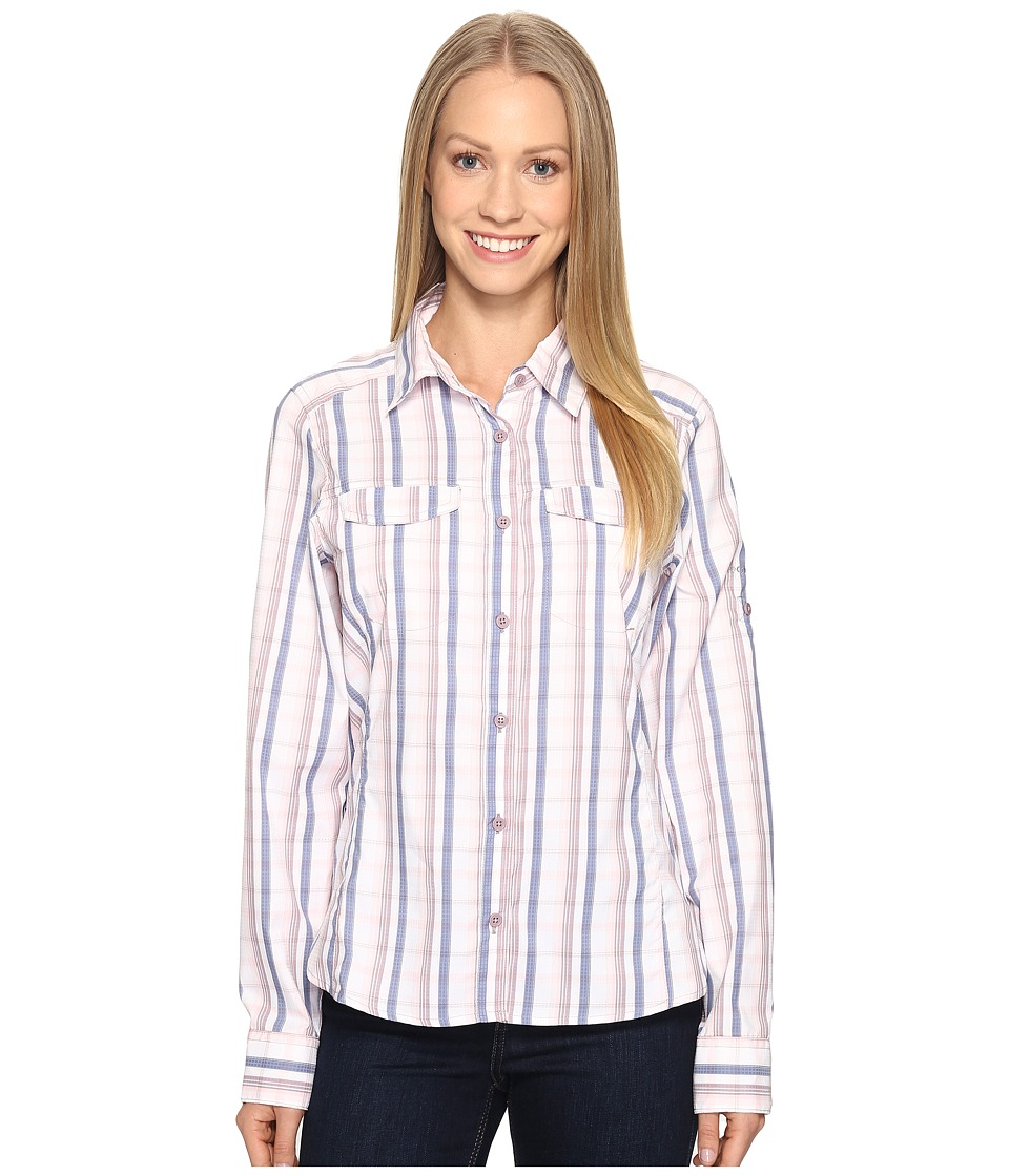 Columbia - Silver Ridge Lite Plaid Long Sleeve Shirt (Whitened Pink Plaid) Women's Long Sleeve Button Up