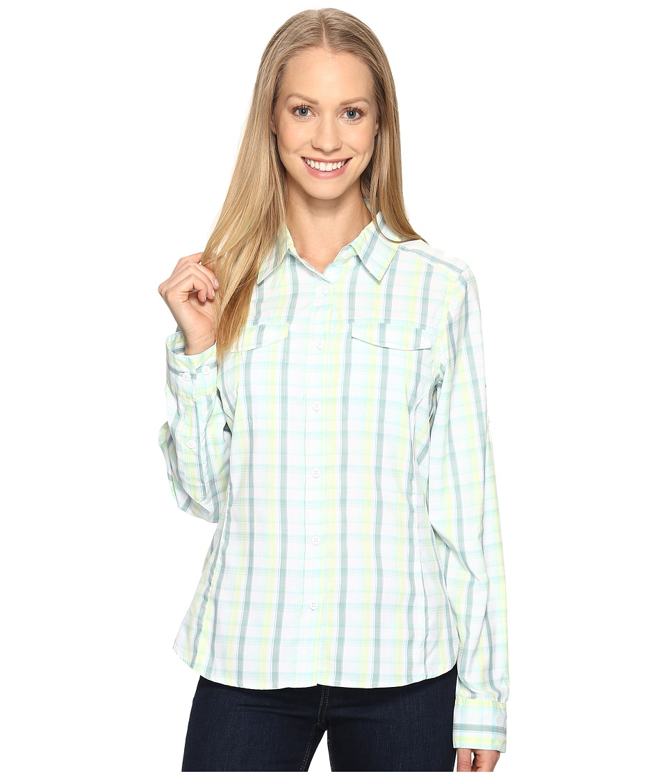 Columbia - Silver Ridge Lite Plaid Long Sleeve Shirt (Iceberg Plaid) Women's Long Sleeve Button Up