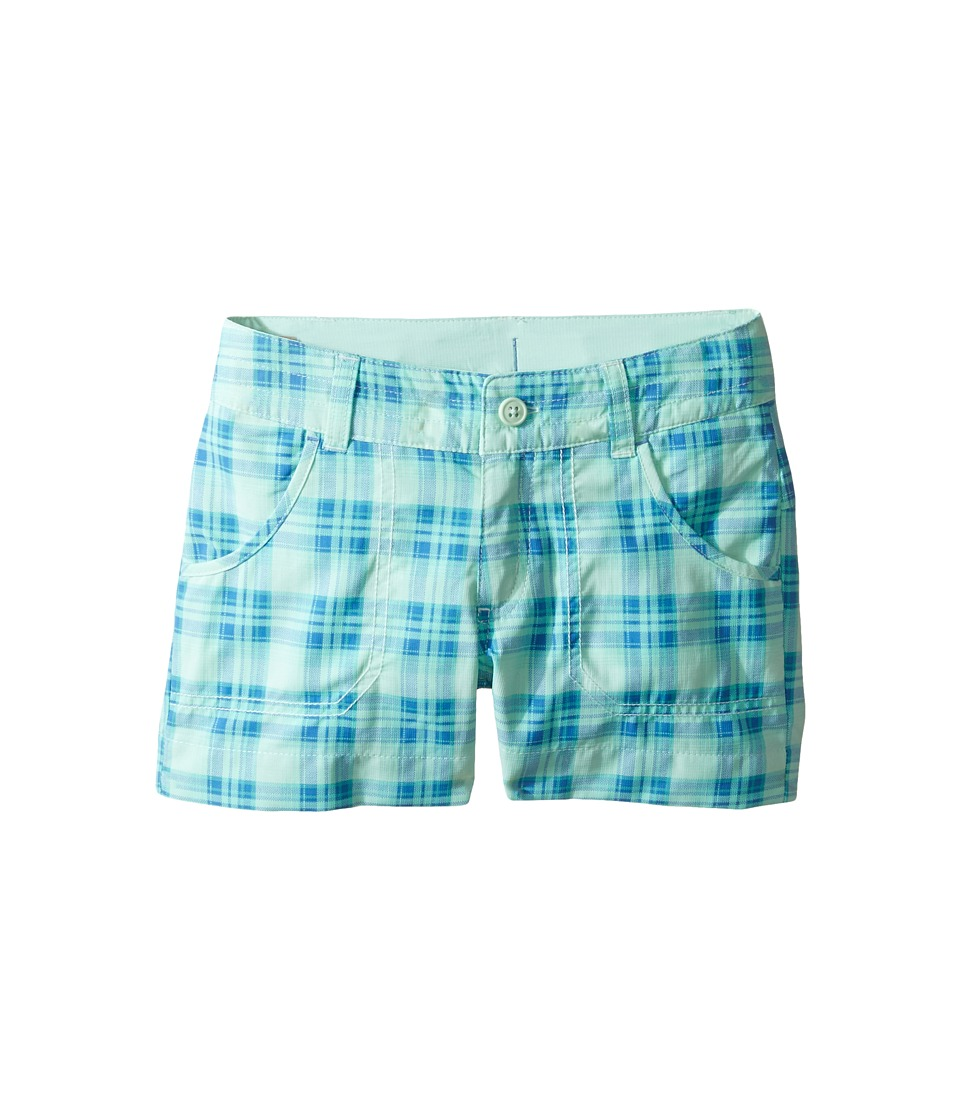 Columbia Kids - Silver Ridge Printed Shorts (Little Kids/Big Kids) (Sea Ice Printed Plaid) Girl's Shorts