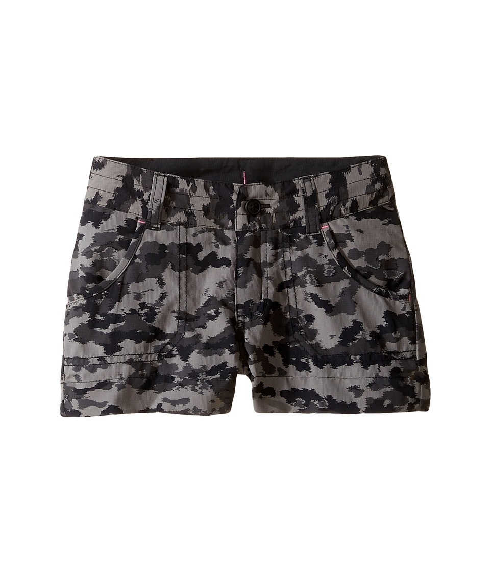 Columbia Kids - Silver Ridge Printed Shorts (Little Kids/Big Kids) (Black Camper Camo) Girl's Shorts
