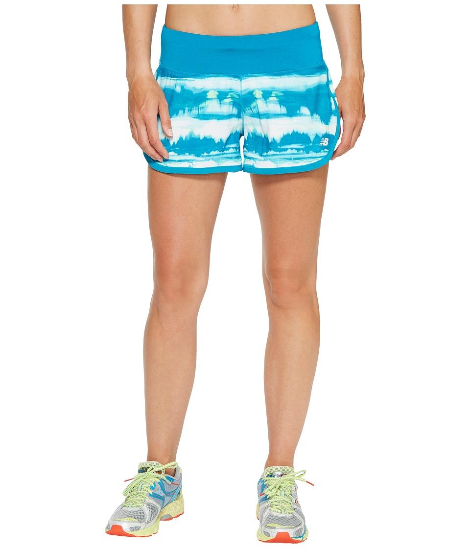New Balance - Impact 3 Shorts Print (Deep Ozone Waves) Women's Shorts