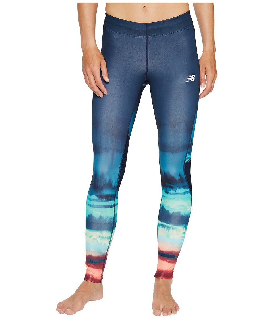 New Balance - Impact Premium Print Tights (Placed Waves/Pigment) Women's Workout
