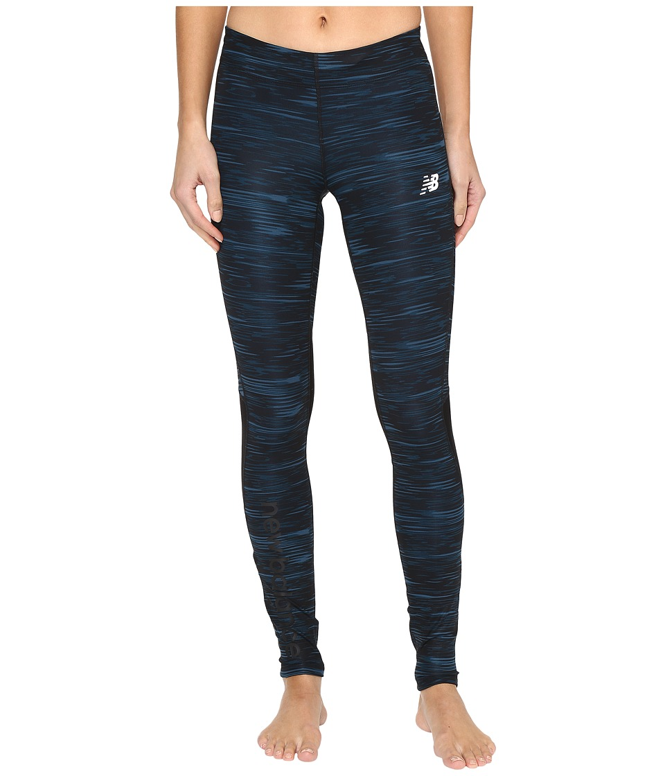 New Balance - Impact Tight Prints (Black Intensity Stripe/Black) Women's Workout