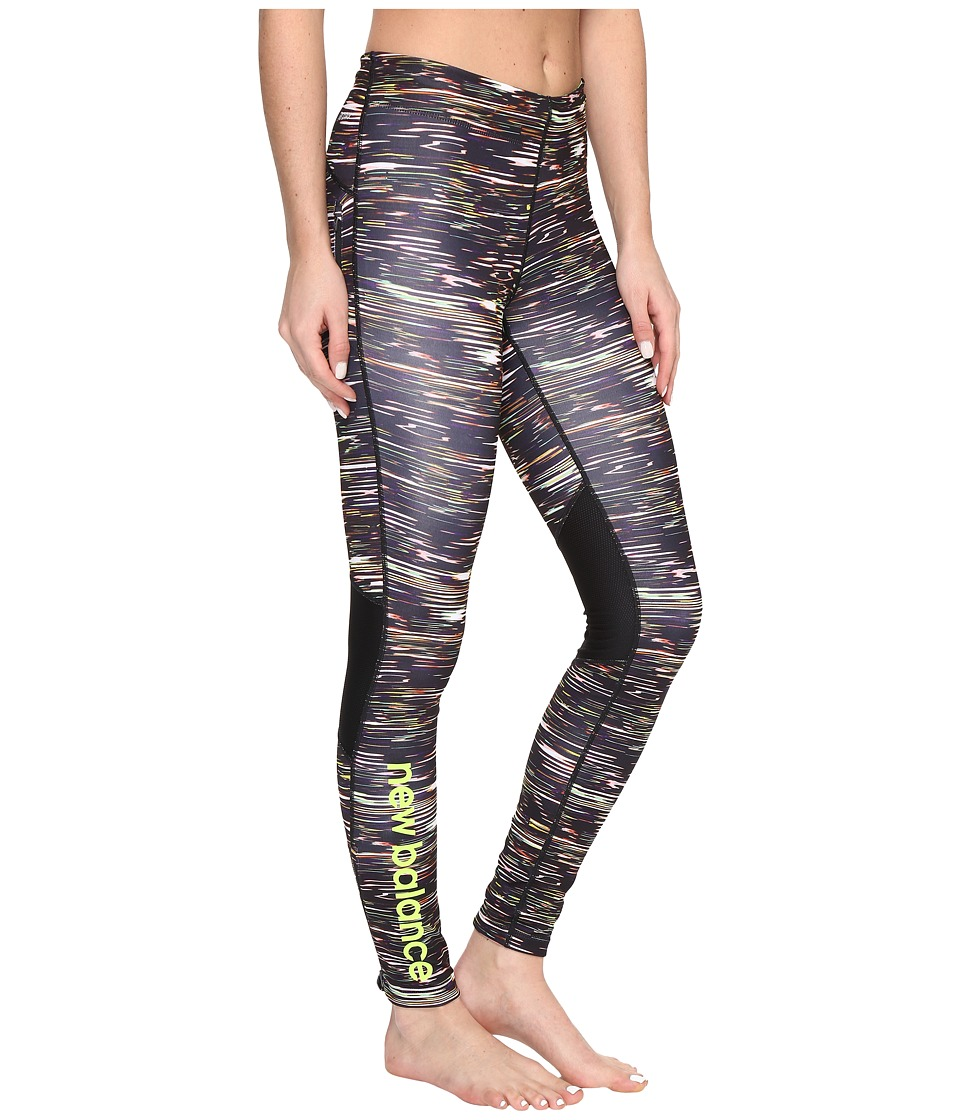 New Balance - Impact Tight Prints (Multi Intensity Stripe/Black) Women's Workout