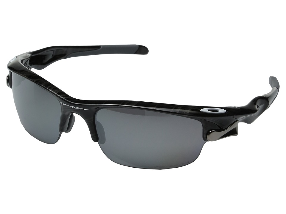 Oakley - Fast Jacket (Black Polished w/ Black Iridium Polarized) Sport Sunglasses