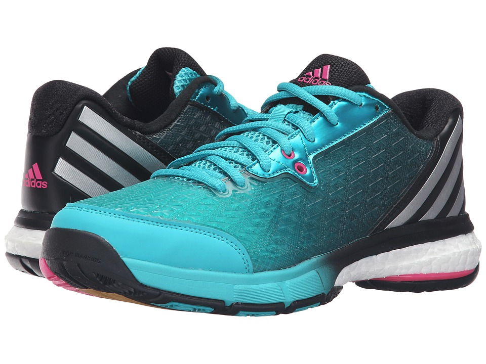 adidas - Energy Volley Boost 2.0 (Shock Green/Silver/Shock Pink) Women's Shoes
