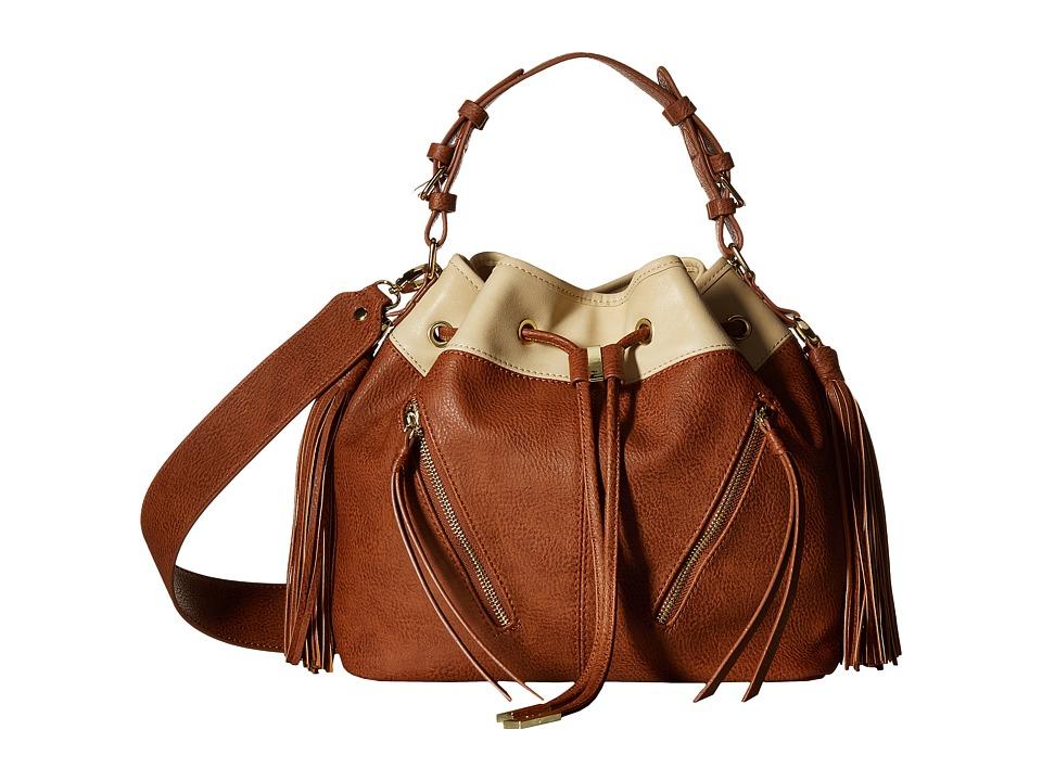 Steve Madden - BKristen Bucket (Taupe/Cognac) Handbags