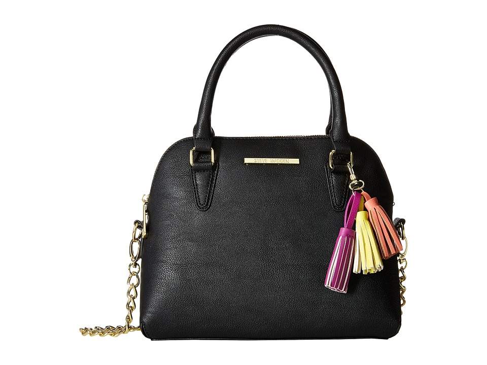 Steve Madden - BHelena Dome Satchel (Black/Yellow/Coral/Fuchsia Tassels) Satchel Handbags