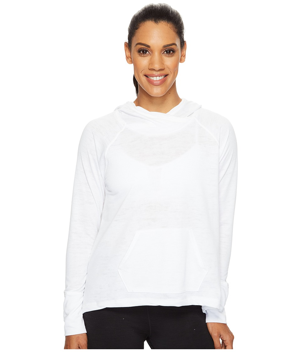 New Balance - Hatha Hoodie (White) Women's Sweatshirt