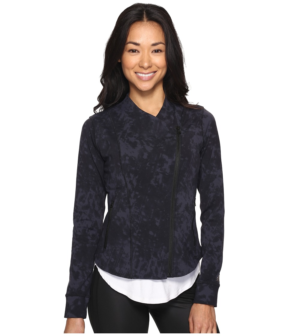 New Balance - Bomber Jacket Printed (Outerspace Distressed Floral) Women's Coat