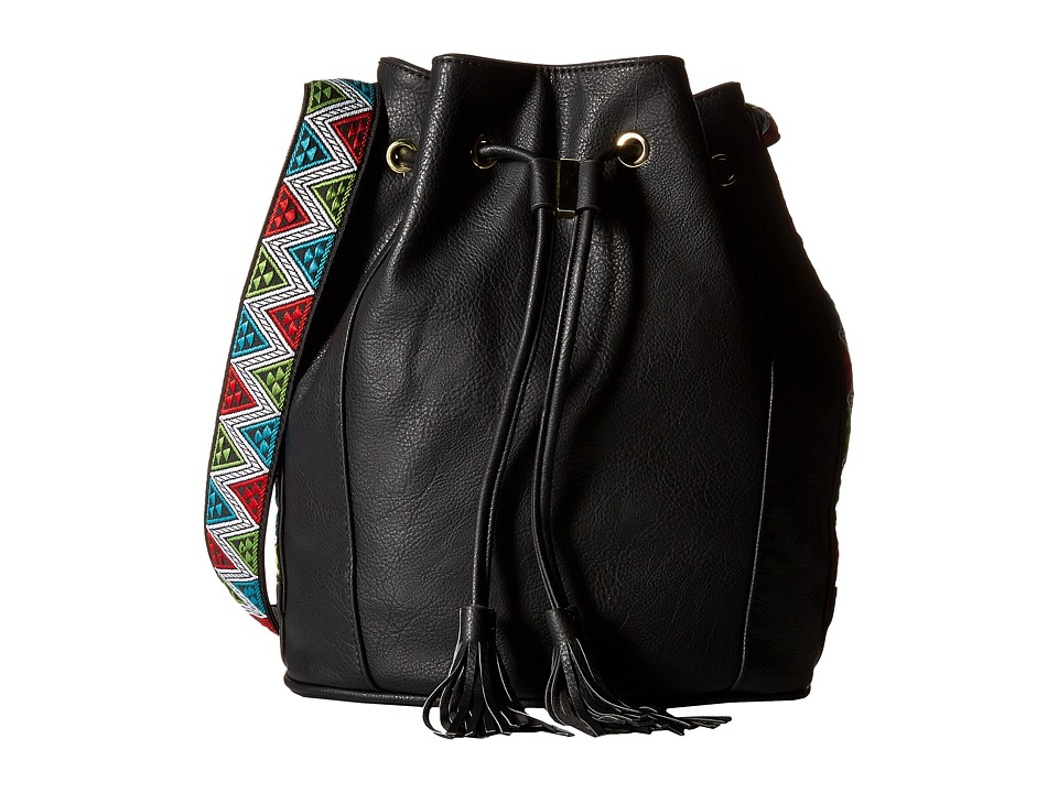 Steve Madden - BRuby Drawstring Bucket (Black) Handbags
