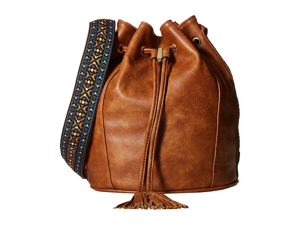Steve Madden - BRuby Drawstring Bucket (Cognac) Handbags