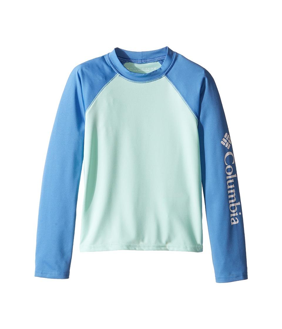 Columbia Kids - Mini Breakertm Long Sleeve Rashguard (Little Kids/Big Kids) (Sea Ice/Medieval) Girl's Long Sleeve Pullover