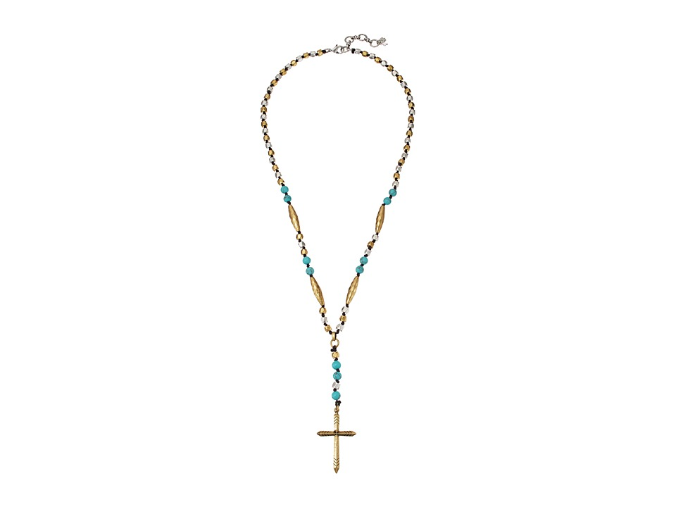 Lucky Brand - Cross Two-Tone Necklace (Two-Tone) Necklace