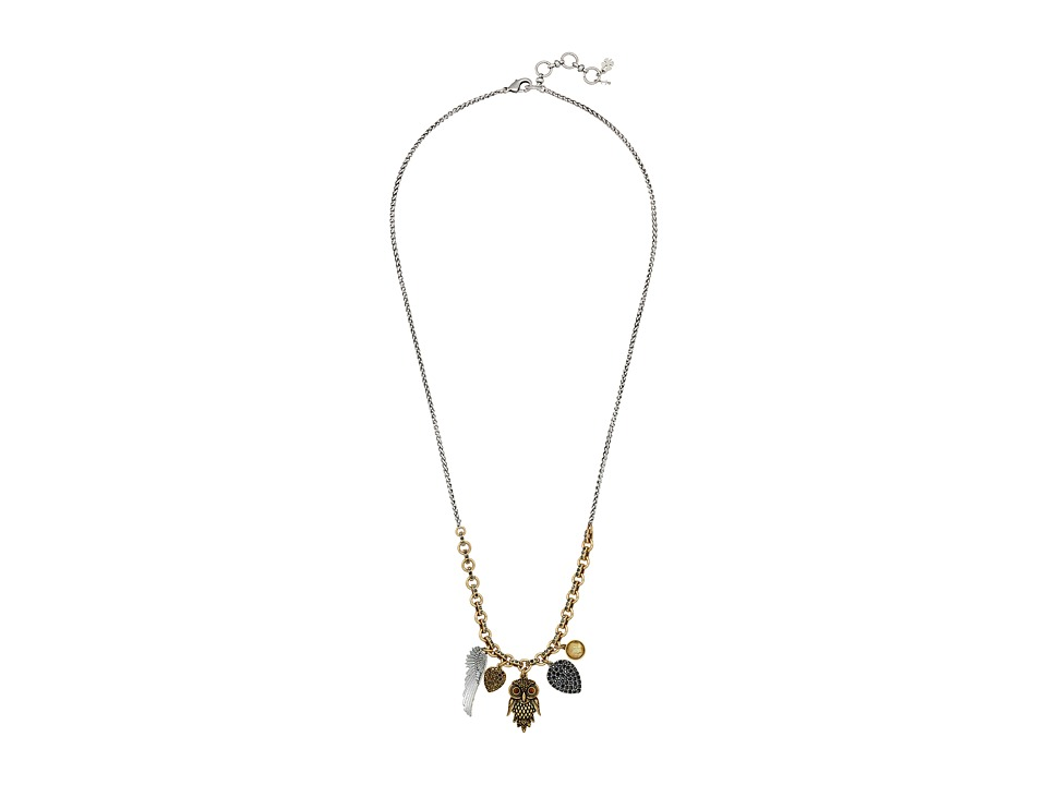 Lucky Brand - Owl Charm Necklace (Two-Tone) Necklace