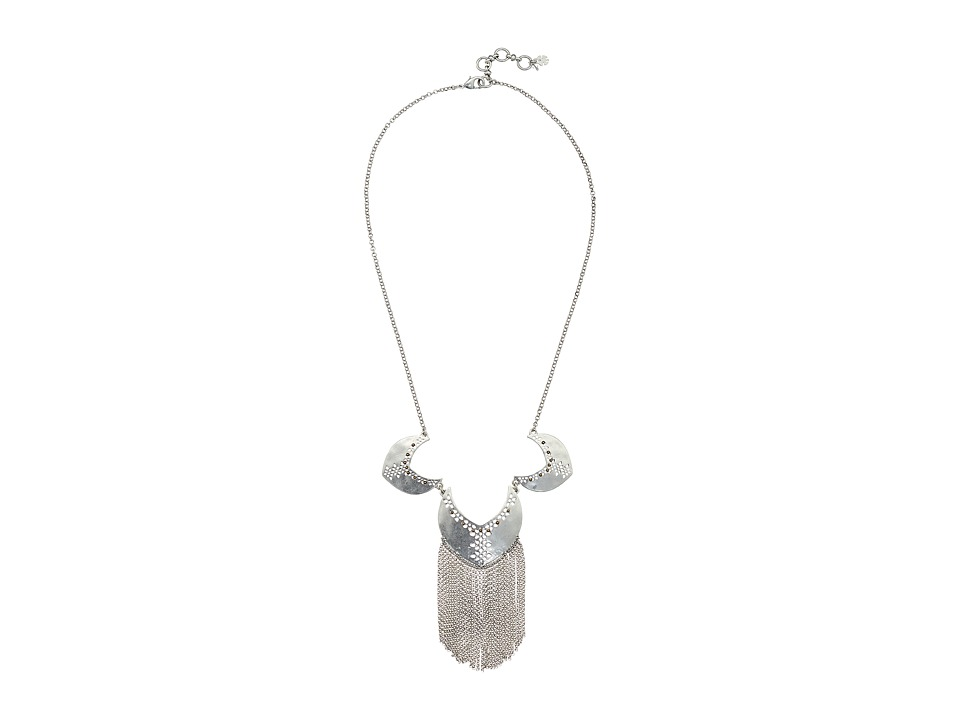 Lucky Brand - Openwork Statement Necklace (Silver) Necklace