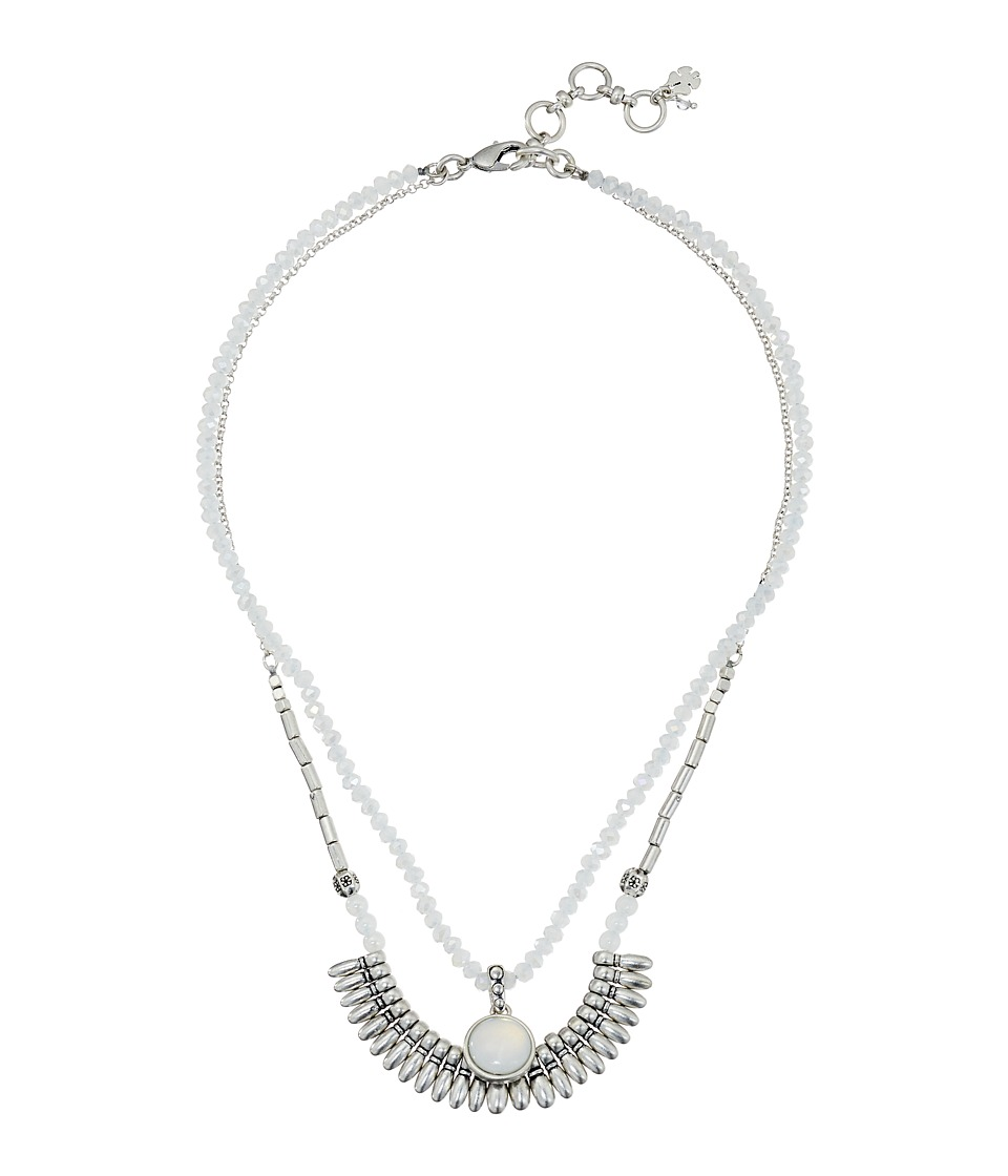 Lucky Brand - Moon Stone Double Collar Necklace (Silver) Necklace